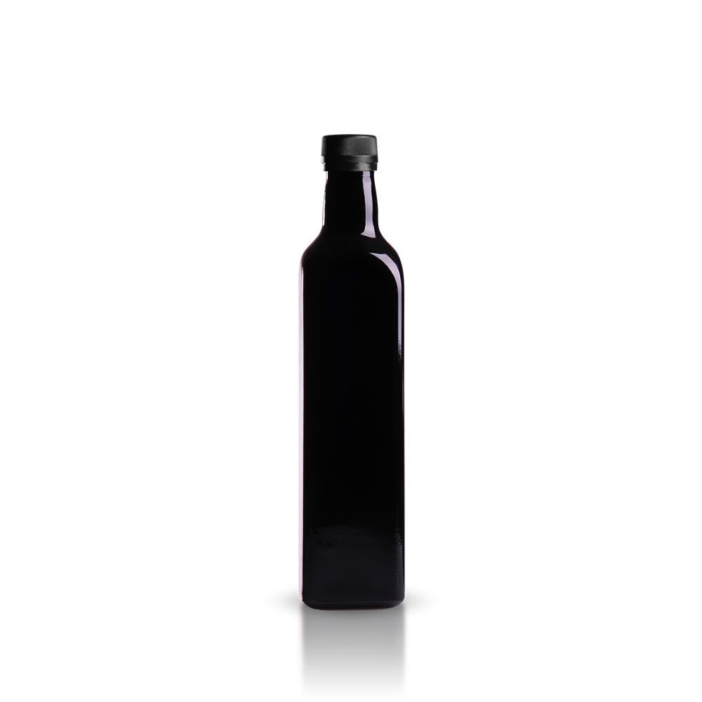 eckige 500 ml lflasche aus violettglas gt good s trade gmbh. Black Bedroom Furniture Sets. Home Design Ideas