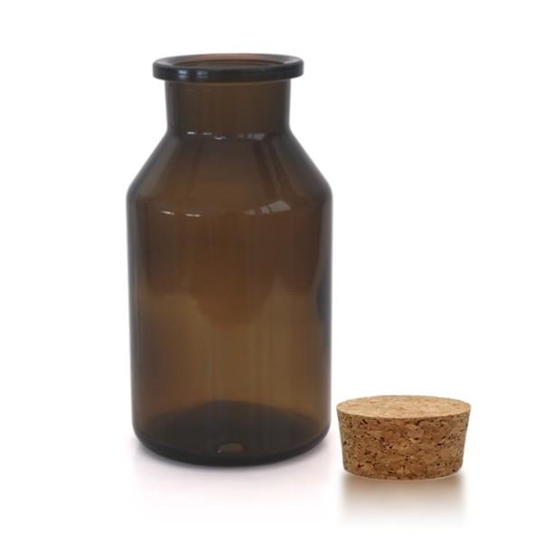 500 ml Steilbrustflasche WH inkl. Korken BG