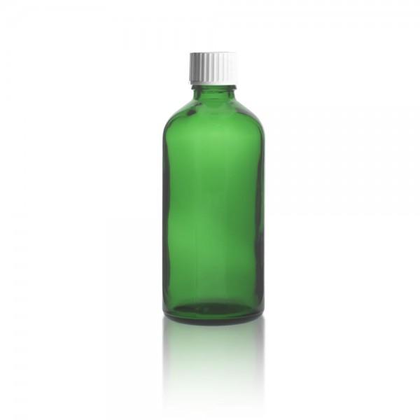 Grüne Tropfflasche 100ml + Schraubverschluss