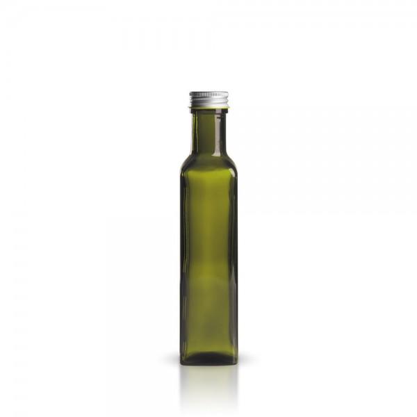 Olivgrüne 250 ml Glasflasche