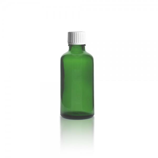 Grüne Tropfflasche 50ml + Tropfverschluss