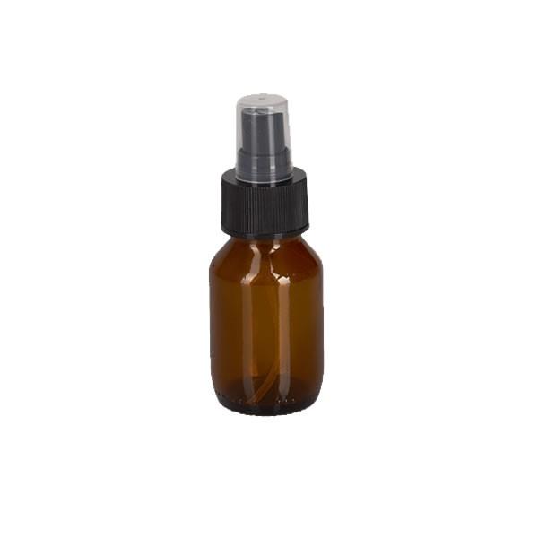 50ml Euro-Medizinflasche mit Zerstäuber schwarz