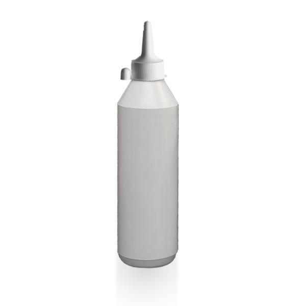 Lotionflasche rund 1000ml mit Spritzverschluss mit Kappe