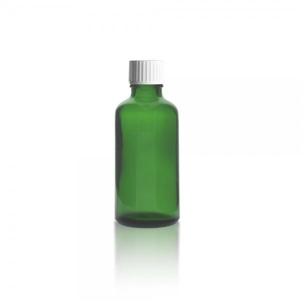 Grüne Tropfflasche 50ml + Schraubverschluss