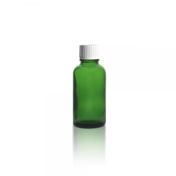 Grüne Tropfflasche 30ml + Tropfverschluss