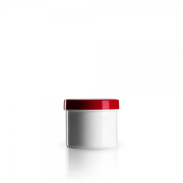 75g - 90ml Salbenkruken mit Deckel rot