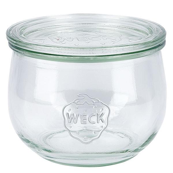 Weckglas - Tulpenglas Unterteil 580ml + Deckel