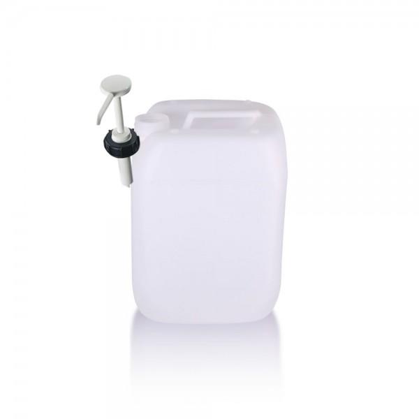 Kunststoff Kanister 10l mit Dosierpumpe, UN-Zulassung