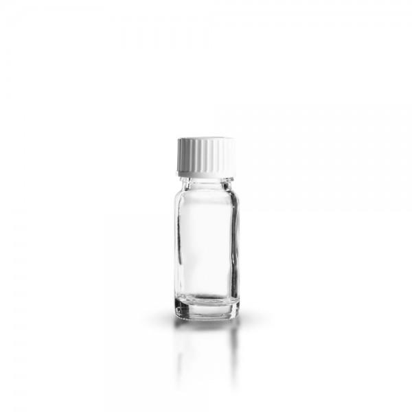 Klarglas Tropfflasche 10ml + Schraubverschluss
