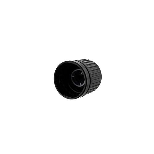Schraubverschluss schwarz + Gießring DIN 18 OV