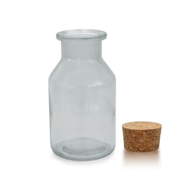 250 ml Steilbrustflasche WH inkl. Korken KG