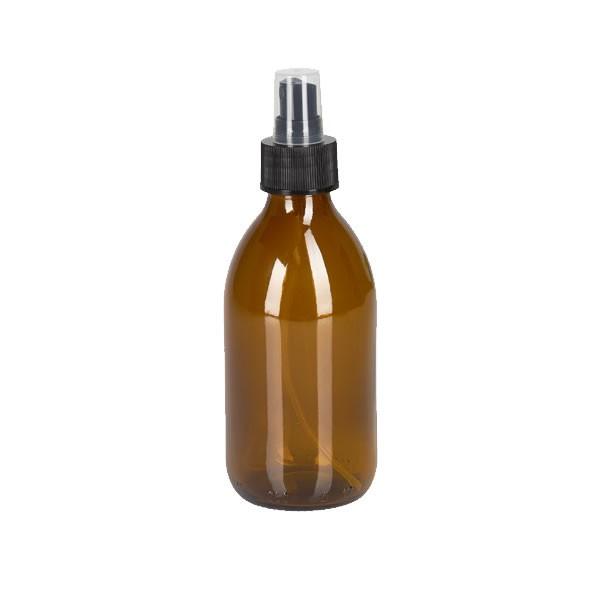 250ml Euro-Medizinflasche mit Zerstäuber schwarz