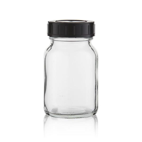 Weithalsflasche Klarglas + Deckel 250ml