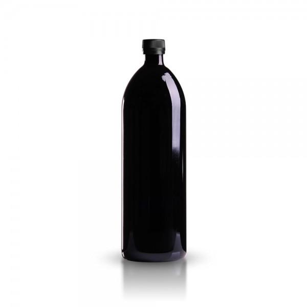 Glasflasche rund 1000 ml Violettglas
