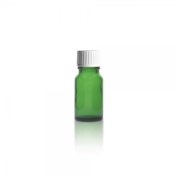 Grüne Tropfflasche 10ml + Schraubverschluss