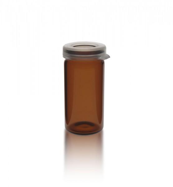 5ml Tablettenglas braun + Schnappdeckel