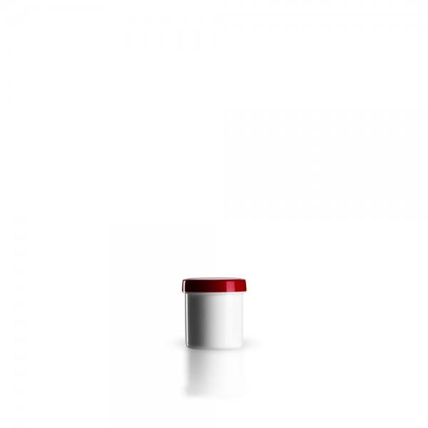 10g - 12ml Salbenkruken mit Deckel rot