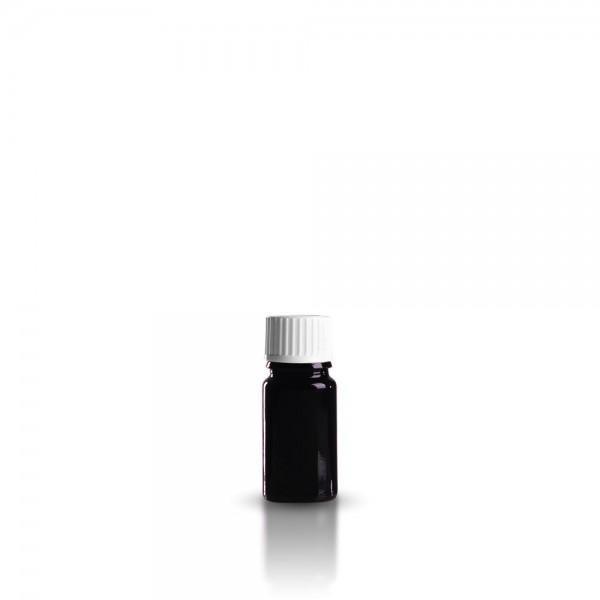 Violette Tropffläschchen 5ml + Schraubverschluss