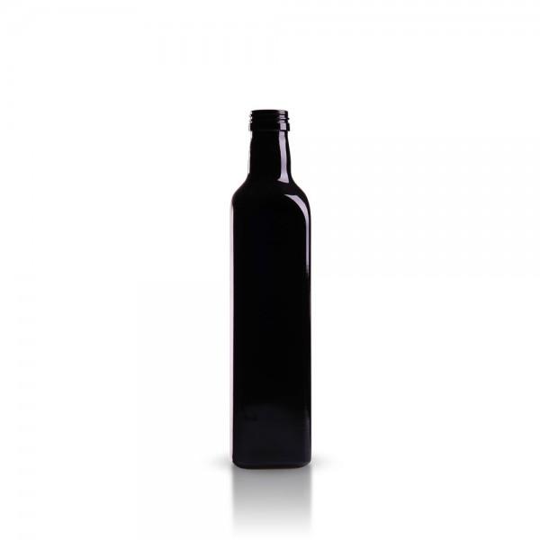Eckige 500 ml Ölflasche aus Violettglas