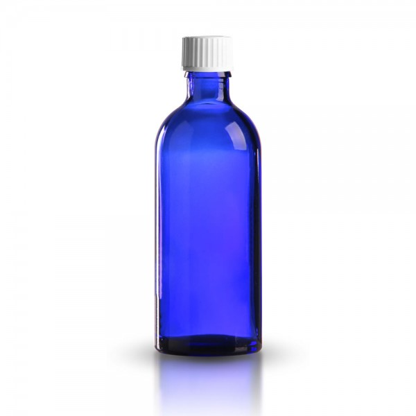 Tropfflasche blau 100ml + Spezialverschluss