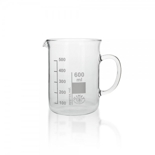 Becherglas mit Henkel 600ml