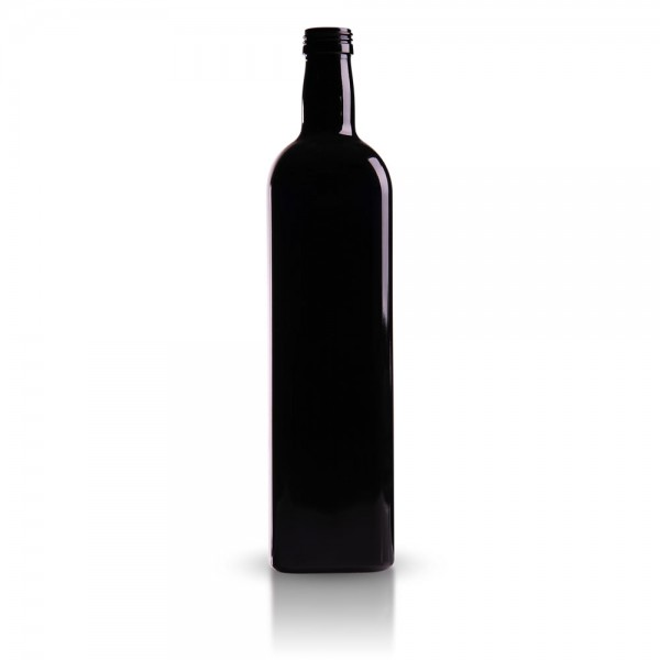 Eckige 1000 ml Ölflasche aus Violettglas