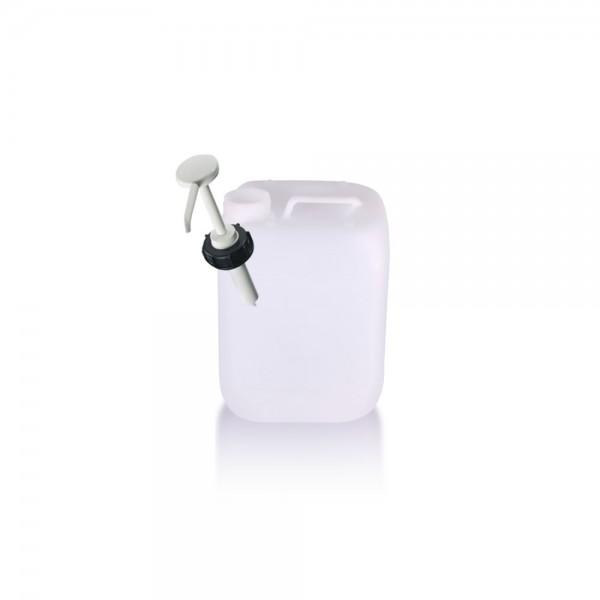 Kunststoff Kanister 5l mit Dosierpumpe, UN-Zulassung