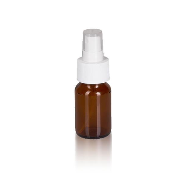 30ml Euro-Medizinflasche mit Zerstäuber weiß