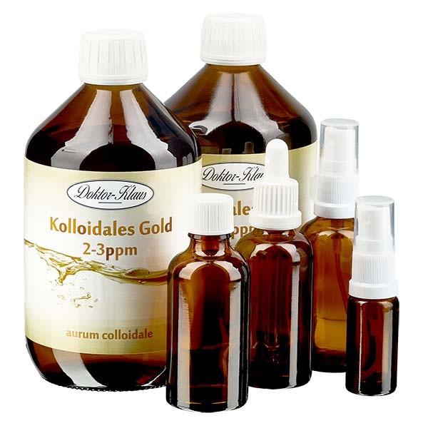 Profiset 2 x 500ml Kolloidales Gold 2-3ppm Doktor-Klaus inkl. 3 x 50ml und 1 x 10ml Leerflaschen
