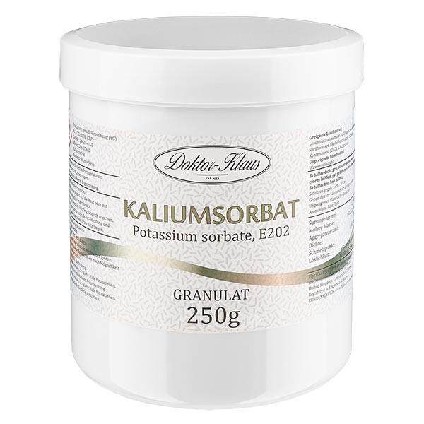 250g Kaliumsorbat, in Dose mit weißem Schraubdeckel