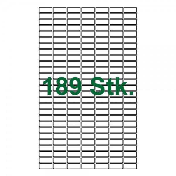 189 selbstklebende Etiketten weiß 25x10mm