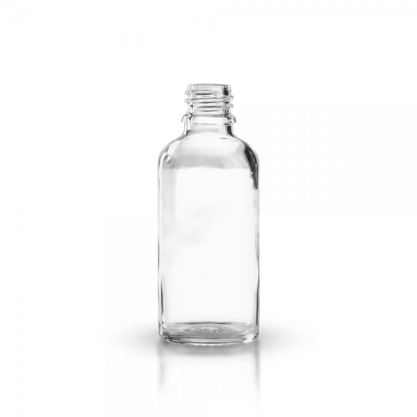klarglas tropfflasche 50 ml ohne verschluss klarglas apothekerflaschen apothekenglas. Black Bedroom Furniture Sets. Home Design Ideas
