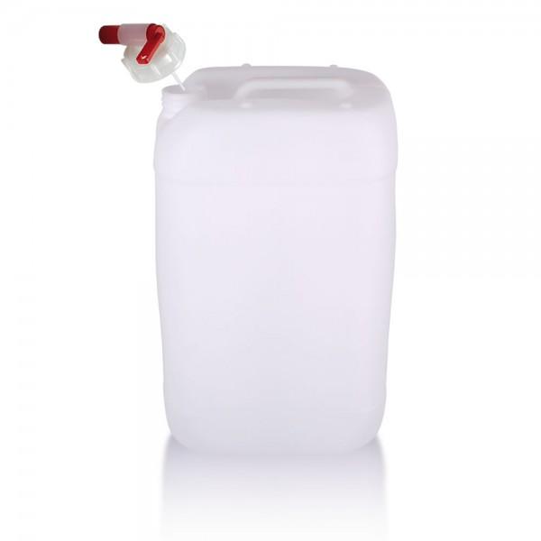Wasserkanister 25l mit Auslaufhahn, UN-Zulassung