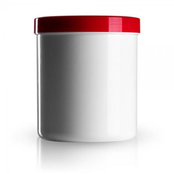 1000ml Salbenkruken mit Deckel rot