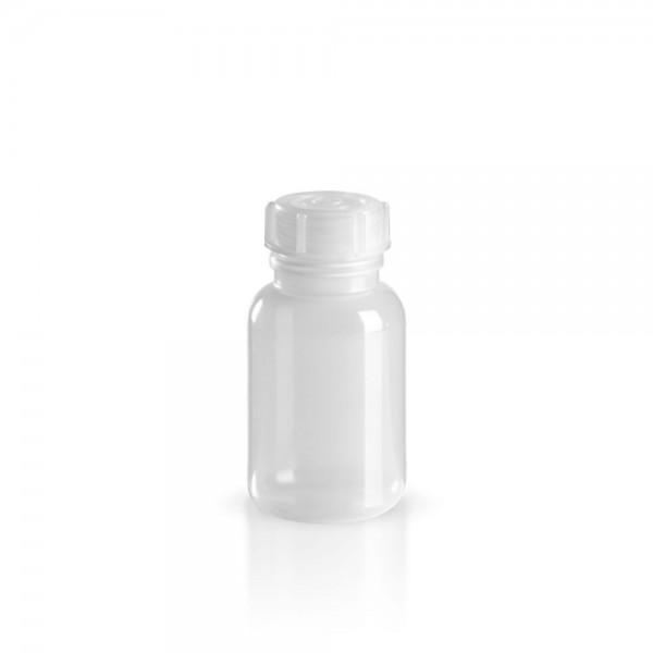 PE Laborflasche Weithals 100ml + Schraubverschluss