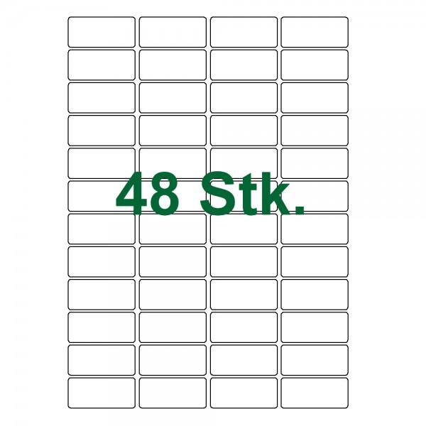 48 Klebe Etiketten weiß 46x21mm