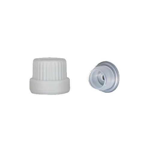 Schraubverschluss weiß DIN18 ST + Globuligießring