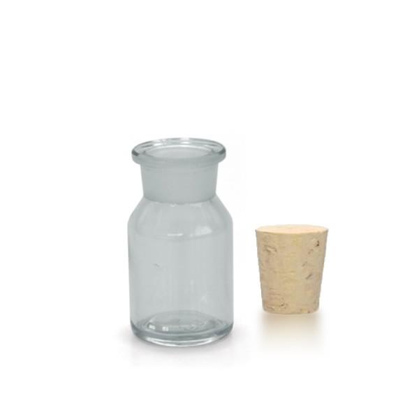 50 ml Steilbrustflasche WH inkl. Korken KG