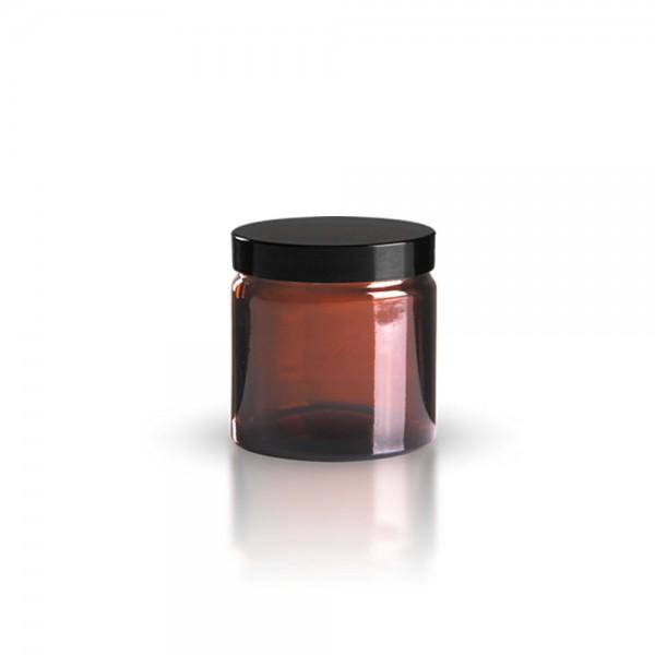 Brauner Glastiegel + Deckel 120ml