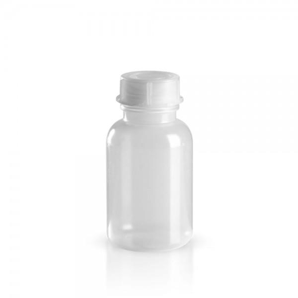 PE Laborflasche Weithals 250ml + Schraubverschluss