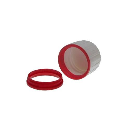Schraubverschluss weiß/rot DIN 28 OV