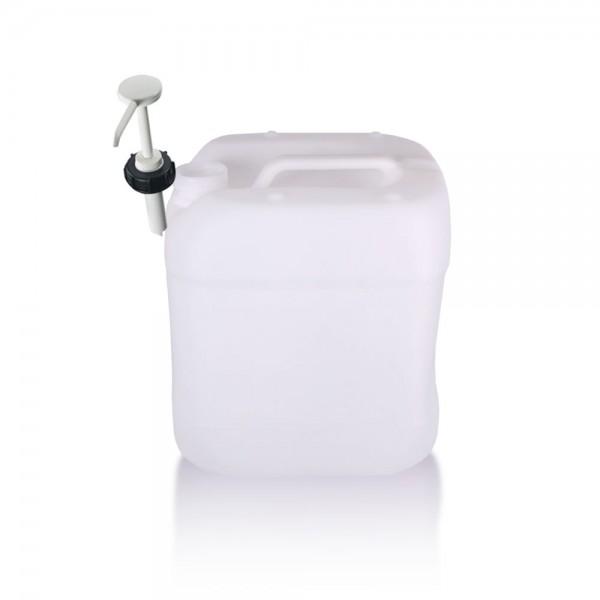 Kunststoff Kanister 15l mit Dosierpumpe, UN-Zulassung