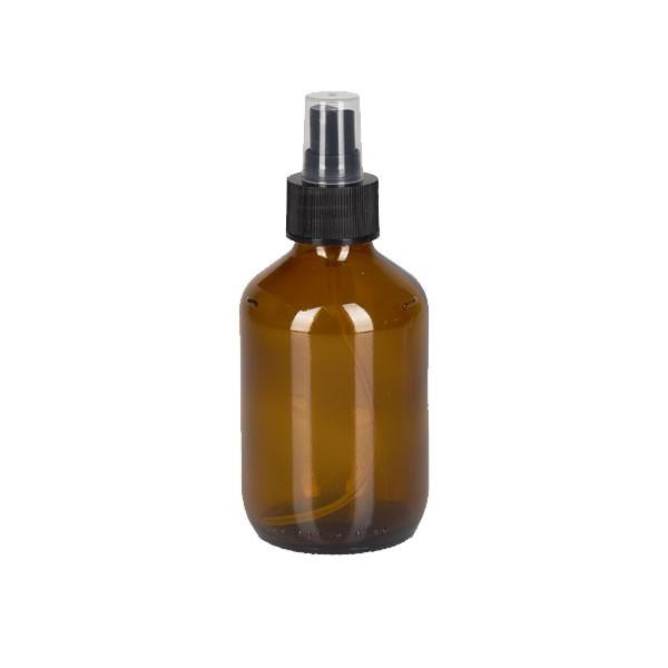 200ml Euro-Medizinflasche mit Zerstäuber schwarz