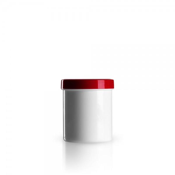 100g - 125ml Salbenkruken mit Deckel rot