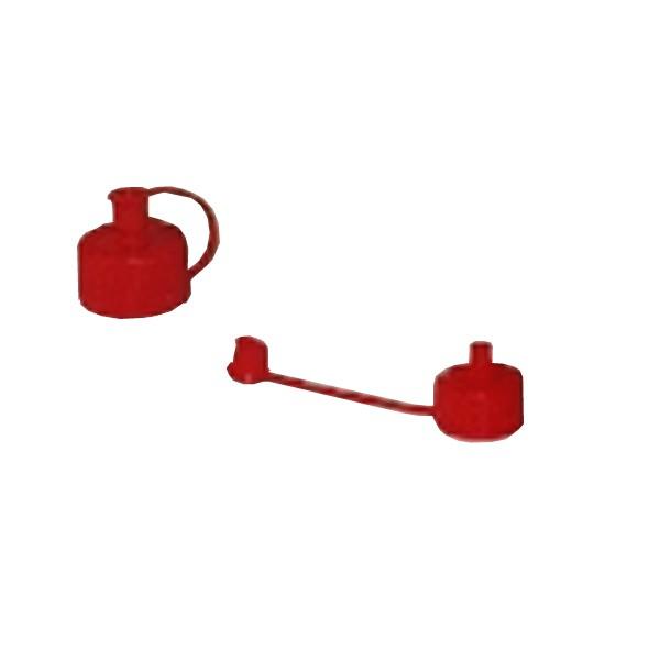 Roter spritzverschluss mit Kappe ND 25
