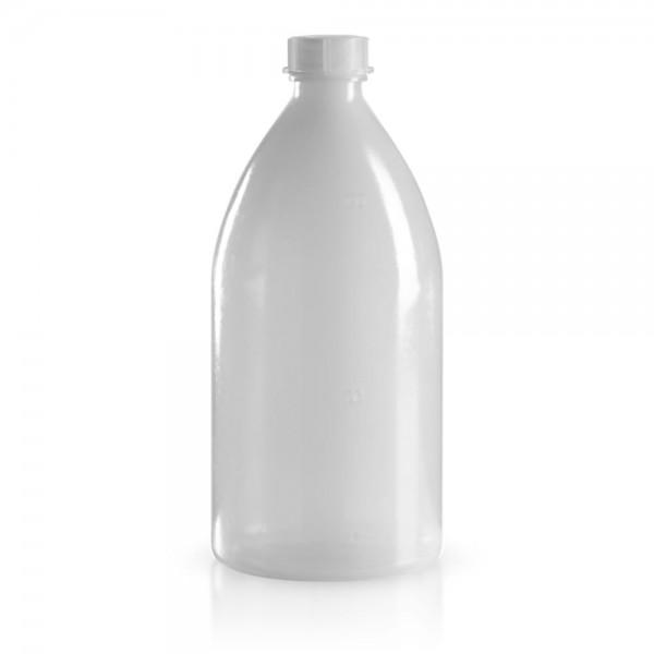 Laborflasche Enghals 1000 ml + Schraubverschluss