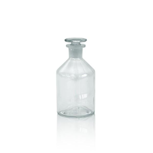 Steilbrustflasche 50ml mit Glasstopfen - Enghals klar