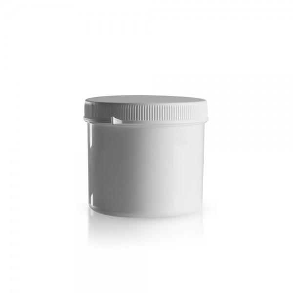600ml Schraubdose mit Originalitätsverschluss weiß