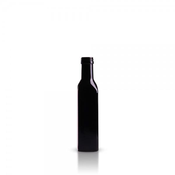 Eckige 250 ml Ölflasche aus Violettglas