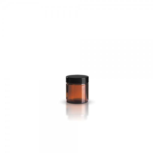 Brauner Glastiegel + Deckel 30ml